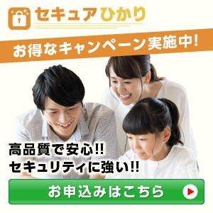 【セキュアひかり】新規回線開通