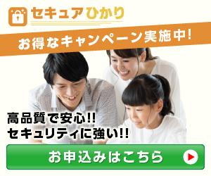 【セキュアひかり】新規回線開通プログラム